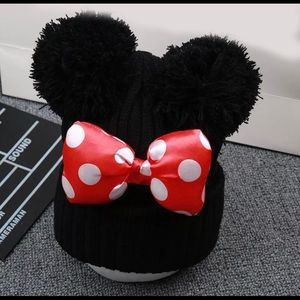 Other - Minnie Mouse Ears Bow Toddler Beanie Hat